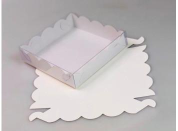 Упаковка для печенья и пряников белая 120х120х30 мм