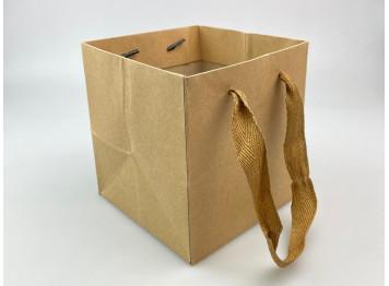 Пакет крафт-квадрат 13х13х14 см
