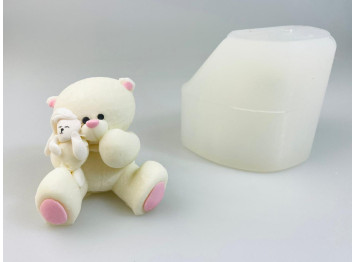 """Молд силиконовый 3D """"Мишка с зайкой"""""""