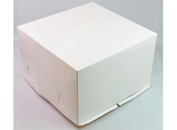 Коробка для торта белая без окна, 30х30х19 см