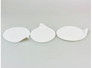 Подложка пластиковая для пирожных ГОУГОУ круглая, белая 10шт