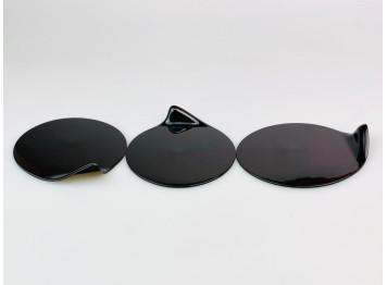 Подложка пластиковая для пирожных ГОУГОУ круглая, черная 10шт