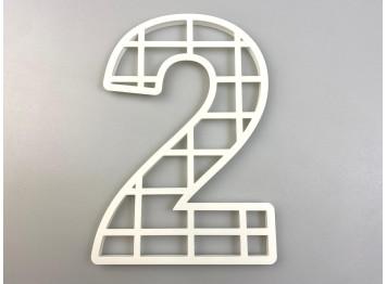 """Пластиковая форма для торта """"Цифра №2"""", 25см"""