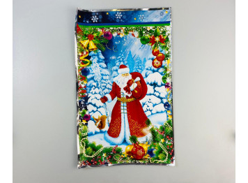 """Пакет подарочный """"Дедушка Мороз"""", 25х40 см"""